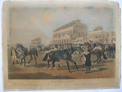 Grand Stand Ascot Gold Cup Day 1839 Orig Lithografie 1839 Horse Race Turf