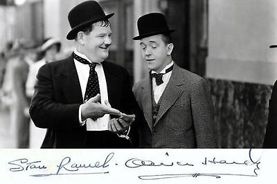 Laurel & Hardy   Pre-Printed Autograph  Metal Sign Home Decor:man Cave:shed Gift