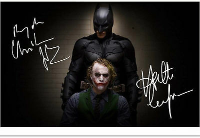 Batman & The Joker  Printed Autograph  Metal Sign Home Decor:man Cave:shed Gift