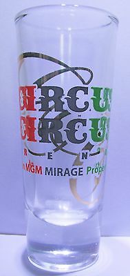 "Circus Circus,  Reno Nevada   Nice 3 1/2"" Shot Glass"
