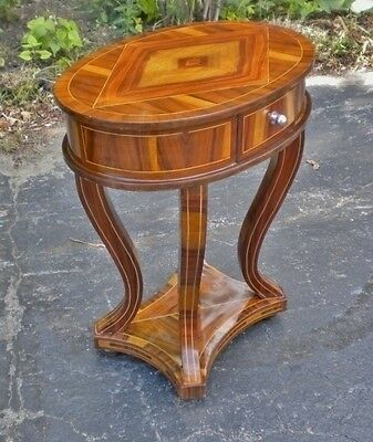 Superb walnut an maple Inlaid Art Deco style side table