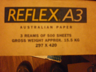 Reflex  A3 Copy Paper 500 Sheet Ream  3 REAMS