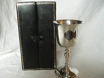 Wine Goblet In Box Sterling Silver London 1978