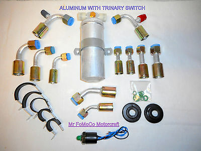 AIR CONDITIONING UNIVERSAL Ac O Ring Fitting Kit A/c Alum Drier W/trinary  Switch