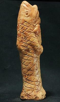 "Babylonian FISH GOD ""Dogon"" Sumerian deity Enki during Flood stone statue"