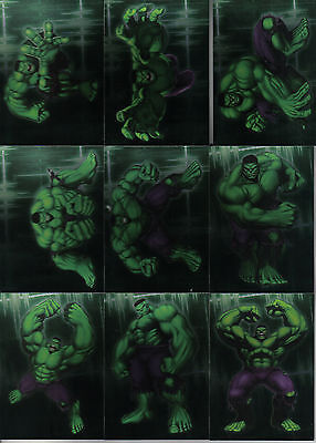 The Incredible Hulk Set Of 10 Gamma Ray Foil Cards