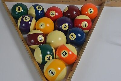 Vintage Billiard Ball Set MISSING 8 BALL Unknown Brunswick ..??? with Cue Ball !