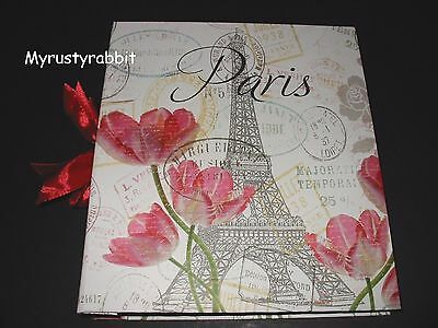 Paris Eiffel Tower & Tulips Photo Album Holds 180 4x6 Pictures - NEW