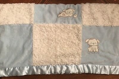 Kyle And & Deena Baby Blue White Blanket Faux Fur Sherpa Dog