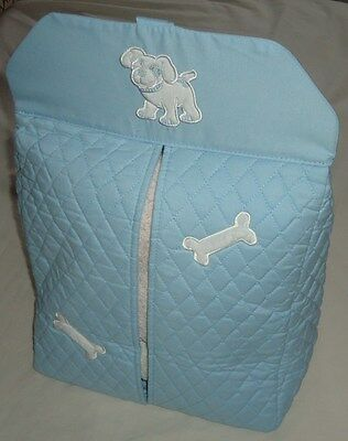BABY PASTEL BLUE HANGABLE NAPPY STACKER / ORGANISER by REMARQUE BABY BNIP