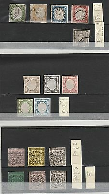 Italian States 1852-63 collection of imperf issues, all fine mint/used CV £2400