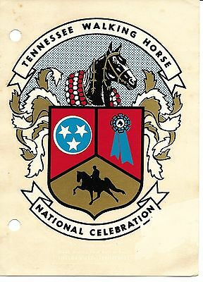 older Tennessee Walking Horse Decal National Celebration, 1970s-80s, Shelbyville