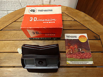 Boxed Brown Bakelite Viewmaster Model E with Manual - Great Condition