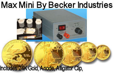 24kt Gold/Silver Electroplating kit, Gold plating machine