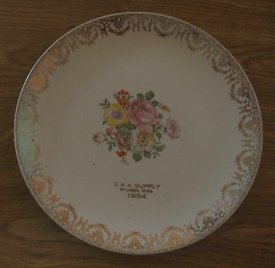 Vintage 1954 Pillager Minnesota C & A Supply Advertising Plate Made In U.s.a.