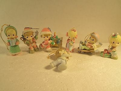 7 Precious Moments Figurines Christmas Tree Home for the Holidays ornament