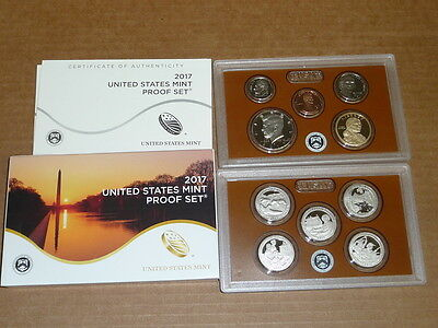 2017 United States 10 Coin Full Proof Set Original Government Box + Coa Live