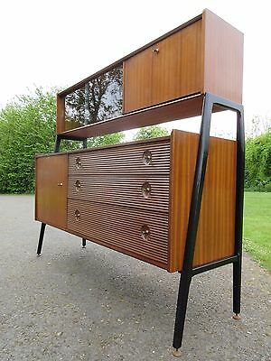 Retro Mid Century Nathan Teak Sideboard Highboard High Board Chest Of Drawers