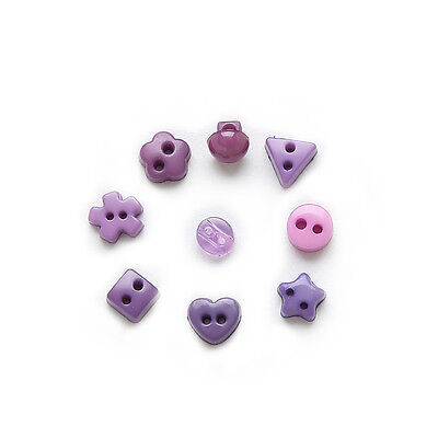 100pcs Purple Mixed 2 hole Resin buttons Sewing Scrapbooking Decor 6mm
