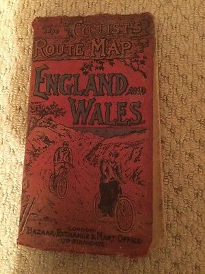 Vintage Cyclist's Route Map England and Wales