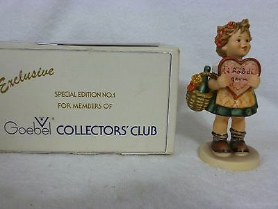 "Goebel W. Germany Hummel Figurine 5 1/2"" Valentine TMK5 #387 with Box"