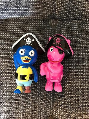 Backyardigans Pirates 3 Inch Tall PVC Figures Cake Toppers GUC