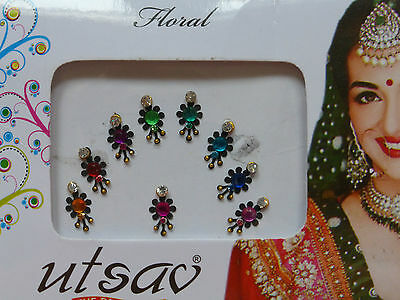 Faux Crystal Indian Bindi * Weddings Festivals Parties * Colours Vary (MT9)