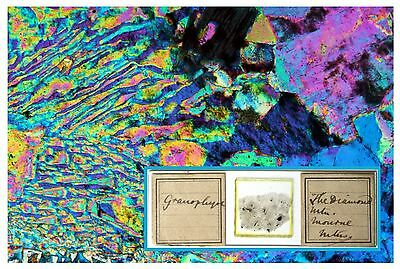 Antique Microscope Slide ~ Granophyre - The Diamond Mtn - Mourne ~ Geology