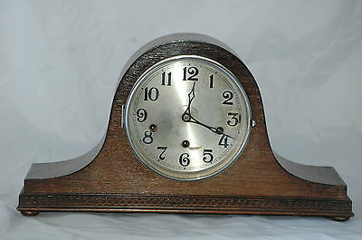 Antique Haller Westminster Chimes Mantle Clock With Key & Pendulum.