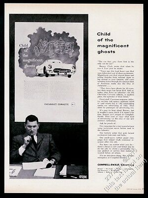 1956 Chevrolet Corvette Child of the Magnificent Ghosts Campbell-Ewald print ad
