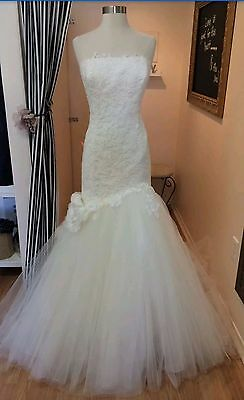 Enzoani emporia Mermaid wedding bridal dress gown size 14 ivory lace tulle