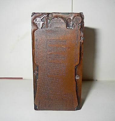 Rare Antique Space Age ROBOT PRINTING BLOCK Plate