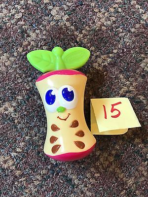 PLAYSKOOL plastic Apple Core infant rattle baby item