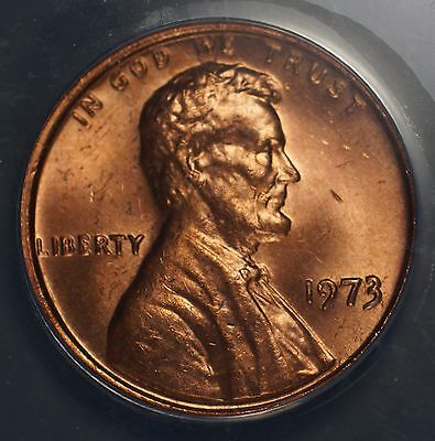 1973 ANACS MS 62 RED Double Die Obverse Die 1 Lincoln Cent