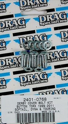 Drag Specialties 2401-0768 Button Torx Derby Cover Kit Harley Bt 1999-2014