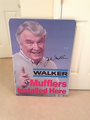Walker Mufflers 2 Sided Metal Advertising Sign With John Madden