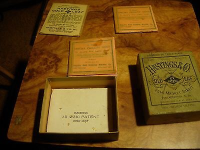 Antique early 1900's Hastings & Co. Gold Leaf. Original packs