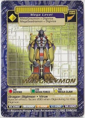 Mint Digimon Gold Stamp Rare Card - Booster Series 3 - Bo-148 Wargreymon + Bonus
