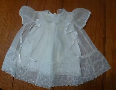 Vintage Childs Baby Sheer Lacey Dress with Slip Christening