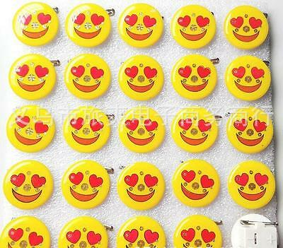 Lot love smile face LED Flashing Light Up Badge/Brooch Pins DIY gift