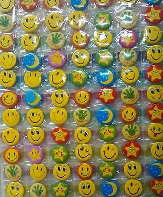 New 108 Pcs Cartoon Smile Face Badge Button Pins Children Party Gifts  25mm DIY