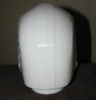 Replacement Wall Sconce Light Lamp White Glass Shade Vintage Art Deco Industrial