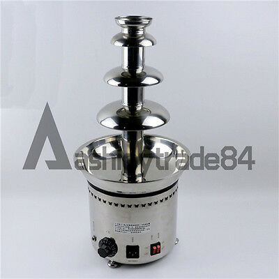 """NEW 23""""4 Tier Stainless Steel Home Party Hotel Commercial Chocolate Fountain"""