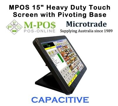 "POS 15"" CAPACITIVE Heavy Duty Touch Screen Point of Sale Monitor. New!"