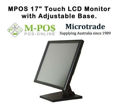 """POS 17"""" Touch Screen Point of Sale Monitor. VESA Mount Fully Adjustable. NEW!"""