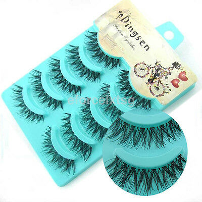 5 Pairs 100% Real Mink Soft Long Natural Thick Makeup Eye Lashes False Eyelashes