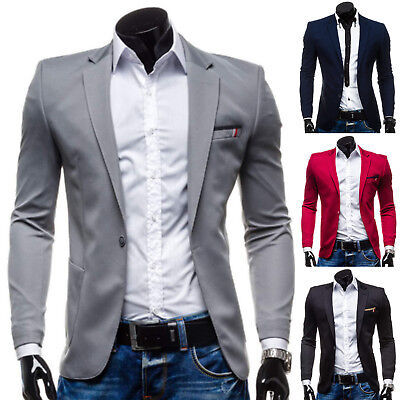 BOLF Herren Sakko Jacke Classic Slim Fit Jacket Sweatjacke Blazer Mix 4D4 Men