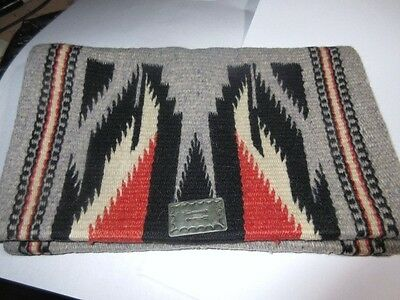 Vintage 1940's Hand Woven Hand Tailored Wool Chimayo Purse Clutch