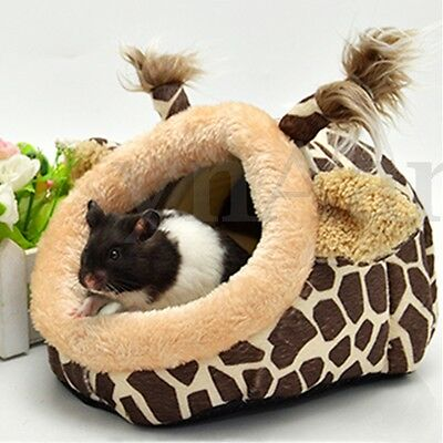 Giraffe Style Small Animal Rat Hedgehog Squirrel Warm House Bed Nest Cage Pad