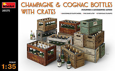 MINIART 35575 Champagne & Cognac Bottles w/Crates in 1:35